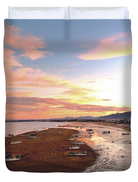San Felipe Sunset 04 Duvet Cover