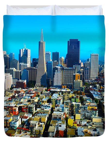 San Fran Colors Duvet Cover