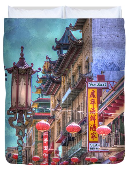 San Francisco Chinatown Duvet Cover