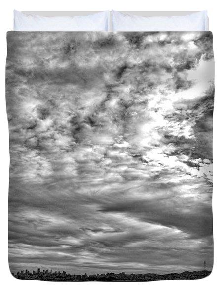 San Francisco Clouds Duvet Cover