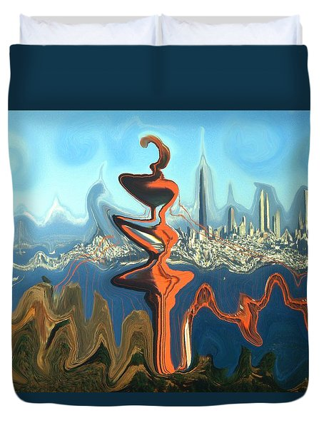 San Francisco Earthquake - Modern Art Duvet Cover