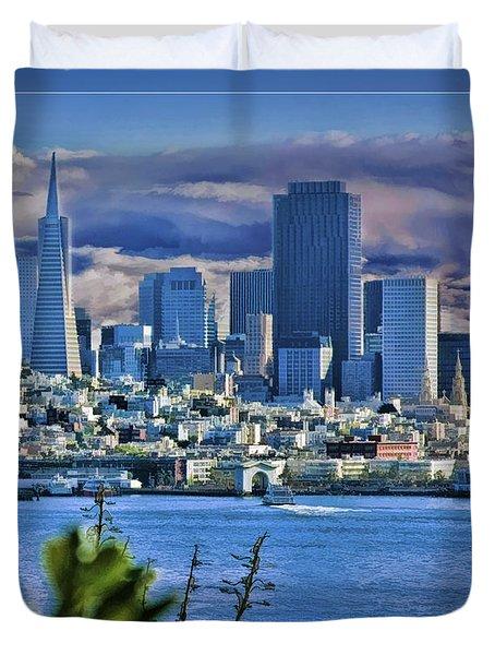 San Francisco From Alcatraz Duvet Cover