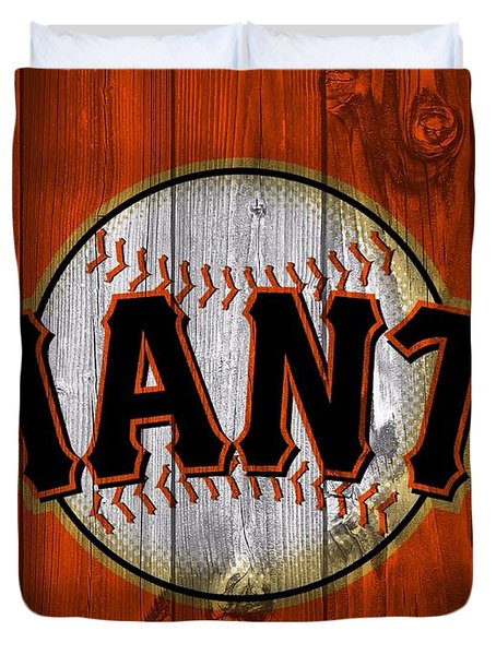 San Francisco Giants Barn Door Duvet Cover by Dan Sproul
