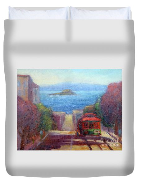 San Francisco Hills Duvet Cover