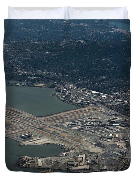San Francisco International Airport Duvet Cover