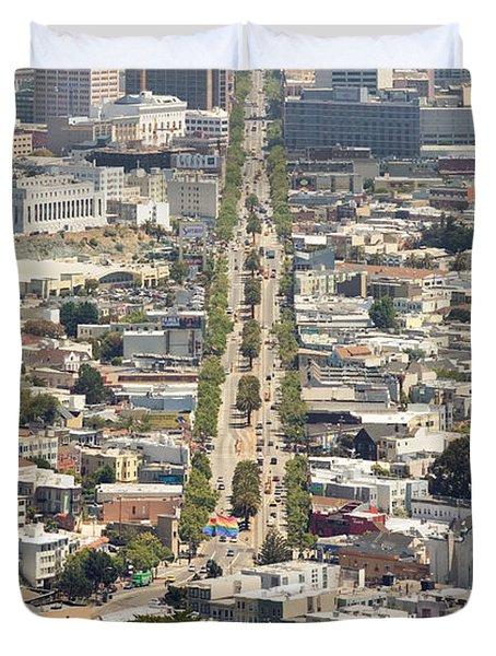 San Francisco - Market Street - Castro To Embarcadero Duvet Cover by Daniel Furon
