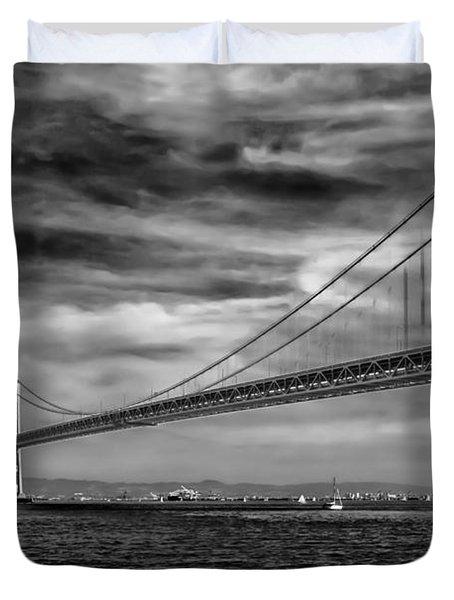 San Francisco - Oakland Bay Bridge Duvet Cover