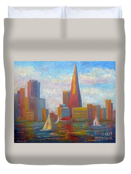 San Francisco Reflections Duvet Cover
