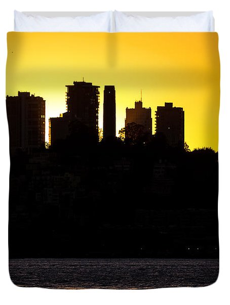 Duvet Cover featuring the photograph San Francisco Silhouette by Kate Brown