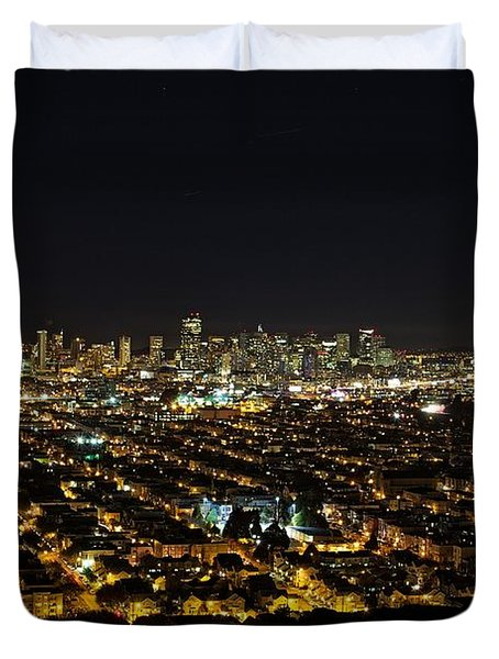 San Francisco Skyline Duvet Cover by Dave Files