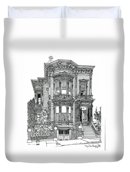 San Francisco Victorian   Duvet Cover