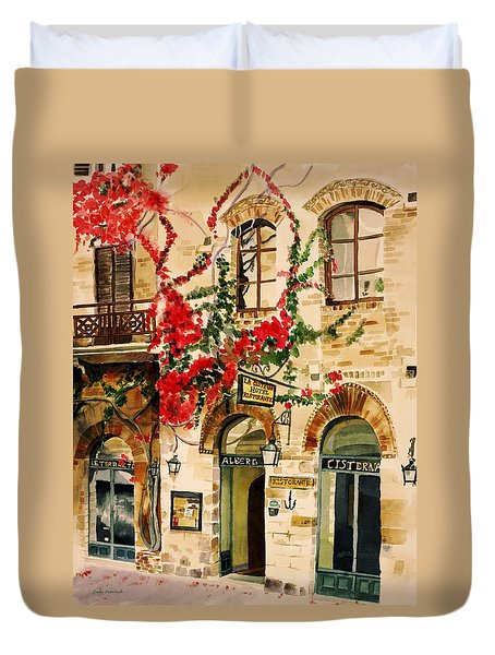 San Gimignano Duvet Cover by Judy Swerlick