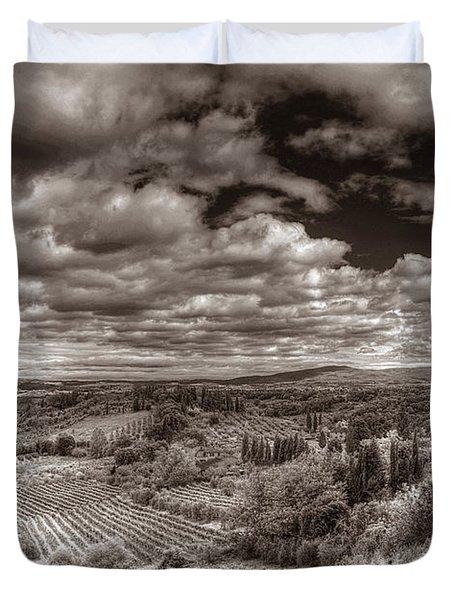 San Gimignano View Duvet Cover