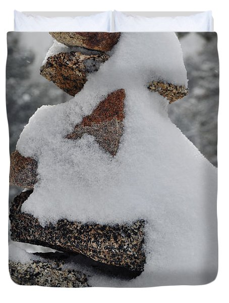 Duvet Cover featuring the photograph San Jacinto Balanced Rocks by Kyle Hanson