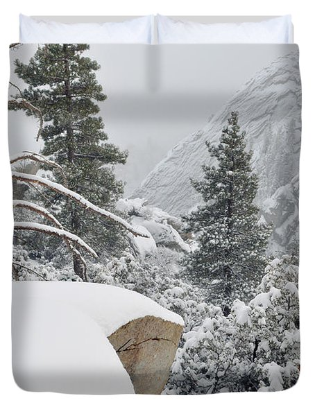 Duvet Cover featuring the photograph San Jacinto Winter Wilderness by Kyle Hanson