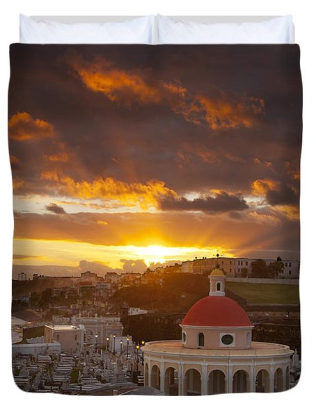 San Juan Sunrise Duvet Cover by Brian Jannsen