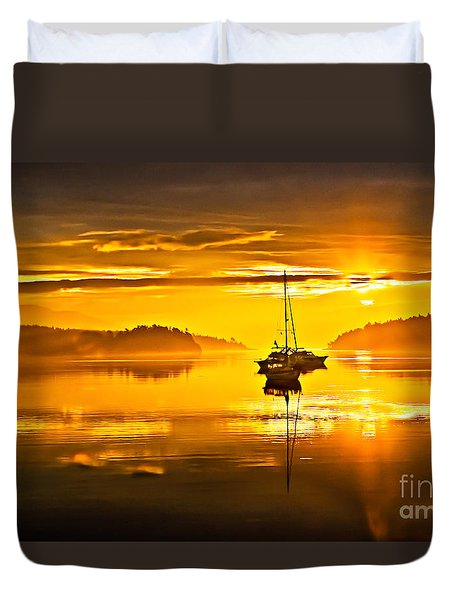 San Juan Sunrise Duvet Cover by Robert Bales