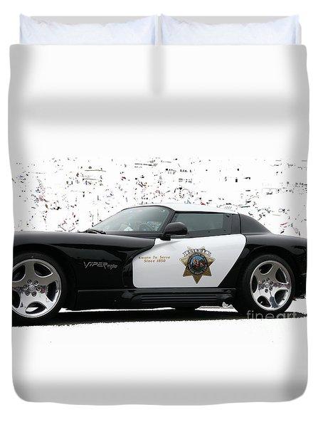 San Luis Obispo County Sheriff Viper Patrol Car Duvet Cover