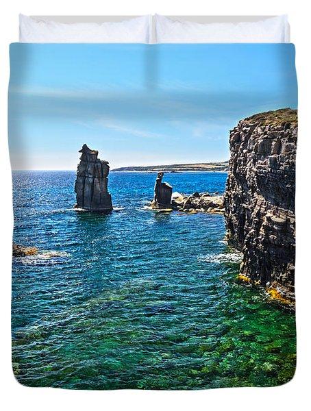 San Pietro Island - Le Colonne Duvet Cover