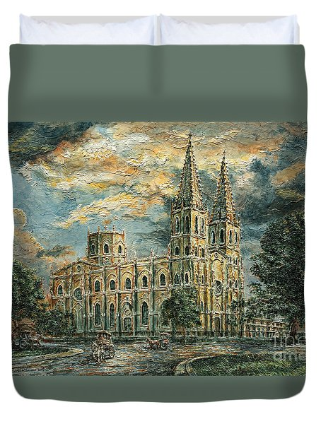 San Sebastian Church 1800s Duvet Cover