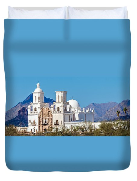 San Xavier Del Bac Mission Duvet Cover by Ed Gleichman