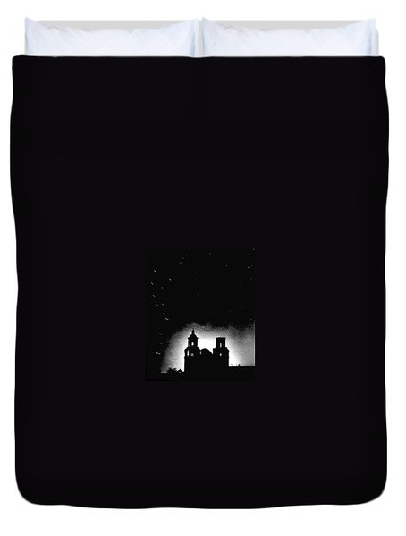 San Xavier Mission Shooting Stars Circa 1960-2009 Duvet Cover