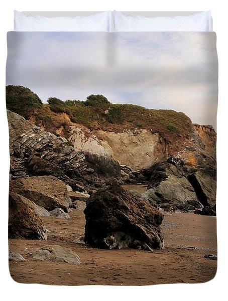 Sand And Rocks Duvet Cover