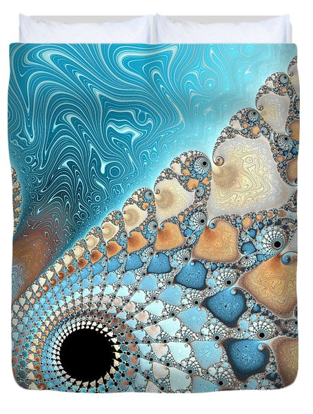 Sand And Sea Duvet Cover by Heidi Smith