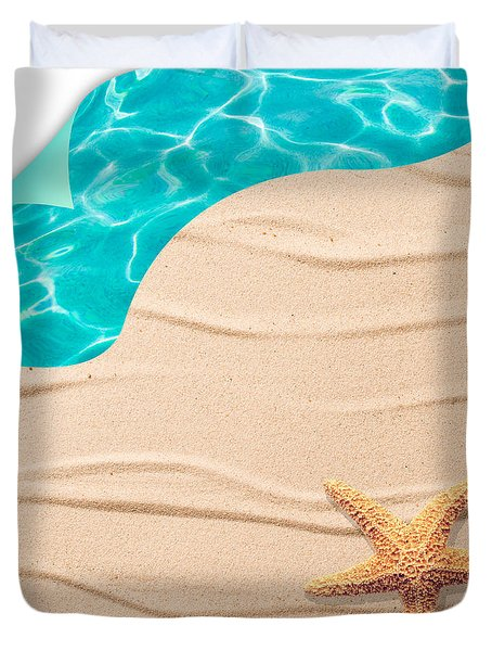 Sand Background Duvet Cover by Amanda Elwell