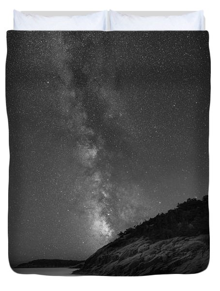 Sand Beach Milky Way Portrait Duvet Cover