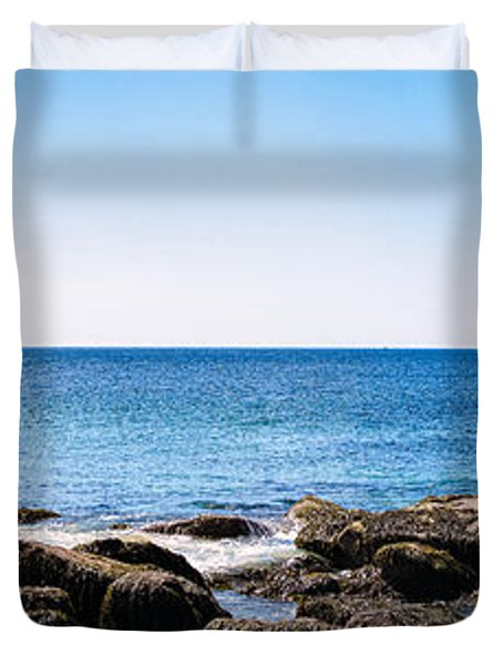 Sand Beach Rocky Shore   Duvet Cover