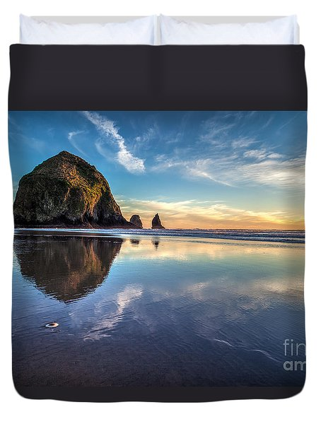 Sand Dollar Sunset Repose Duvet Cover
