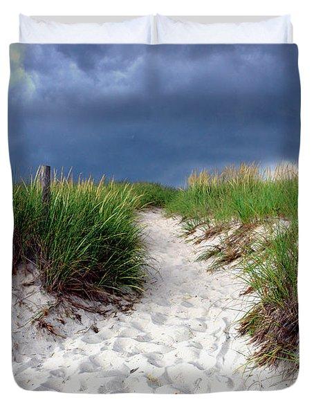 Sand Dune Under Storm Duvet Cover