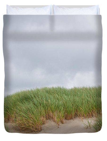 Sand Dunes And Grass Duvet Cover
