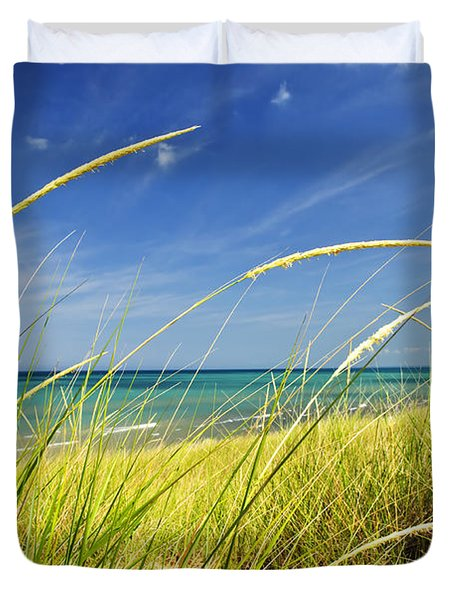 Sand Dunes At Beach Duvet Cover