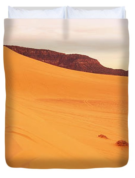 Sand Dunes In A Desert, Coral Pink Sand Duvet Cover