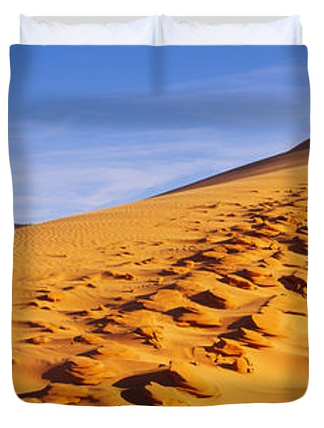 Sand Dunes In The Desert, Coral Pink Duvet Cover