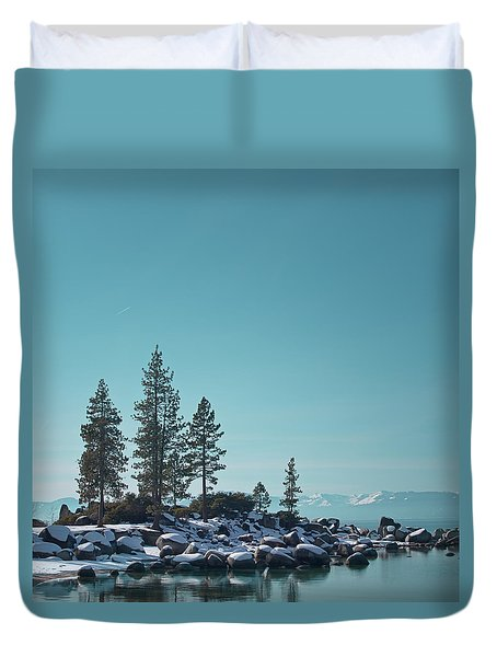 Sand Harbor-lake Tahoe Duvet Cover by Kim Hojnacki