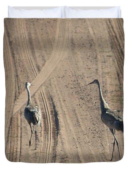 Sand Hill Cranes Duvet Cover