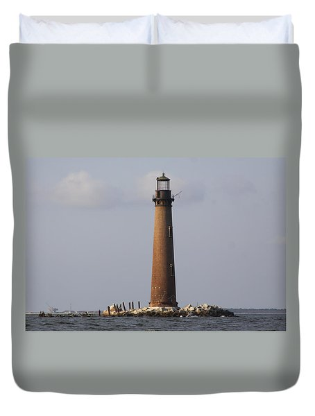 Sand Island Lighthouse - Once 40 Acres Duvet Cover