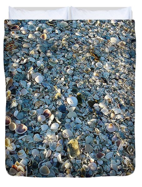 Duvet Cover featuring the photograph Sand Key Shells by David Nicholls