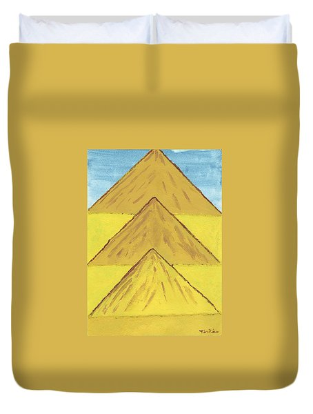 Duvet Cover featuring the painting Sand Mountains by Tracey Williams