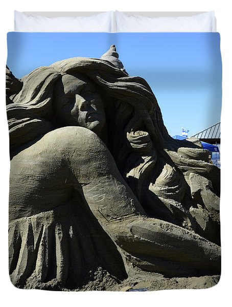 Sand Sculpture 1 Duvet Cover by Bob Christopher