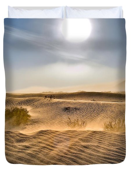 Sand Storm In The Mesquite Dunes 2 Duvet Cover