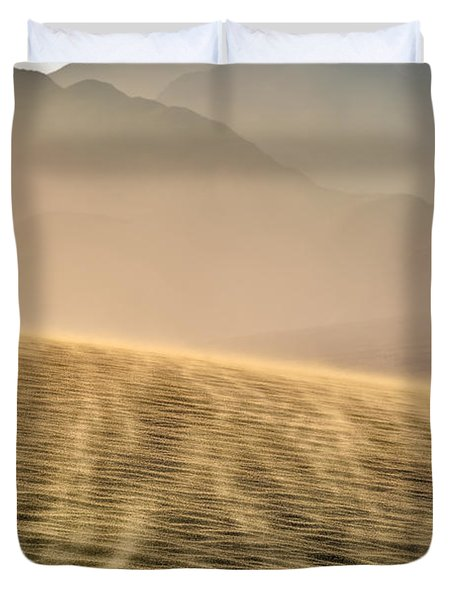 Sand Storm In The Mesquite Dunes Duvet Cover