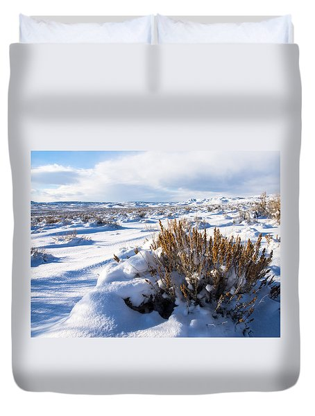 Sand Wash Basin In The Winter Duvet Cover