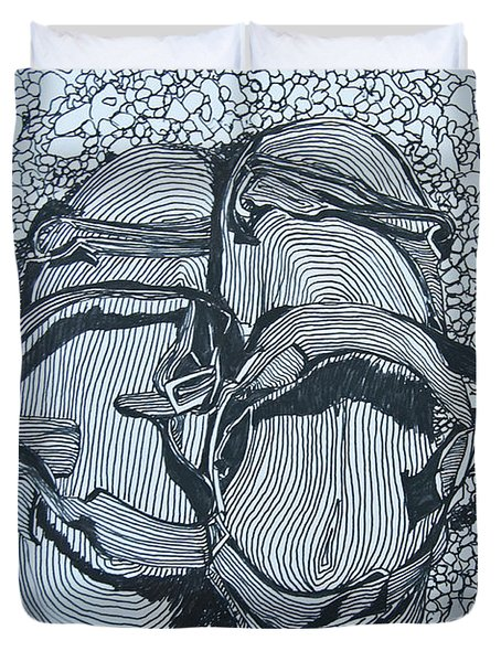 Sandals - Doodle  Duvet Cover