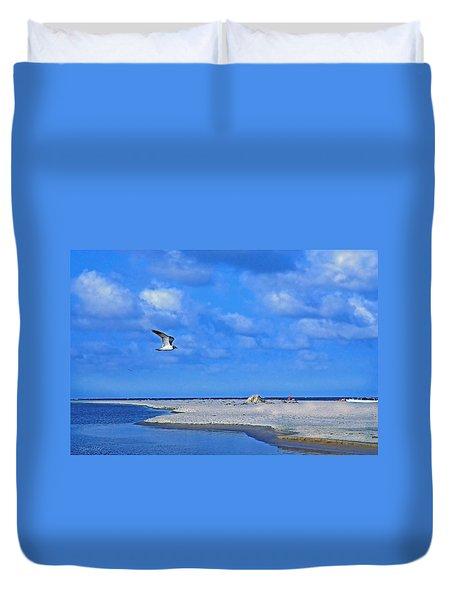 Sandbar Bliss Duvet Cover by Marie Hicks