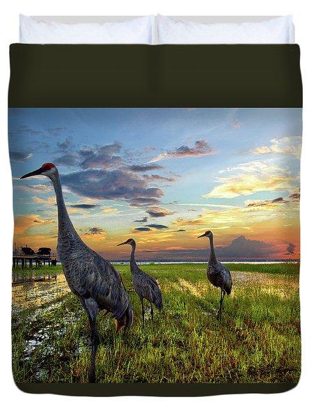 Sandhill Sunset Duvet Cover