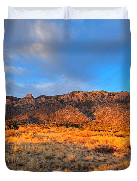 Sandia Crest Sunset Duvet Cover by Alan Vance Ley